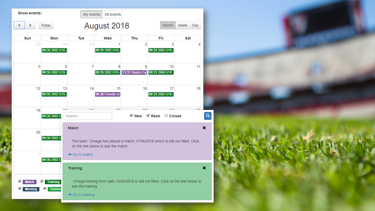 Simple and functional calendar